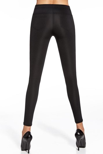 Bas Bleu Marika black classic comfortable leggins – made in