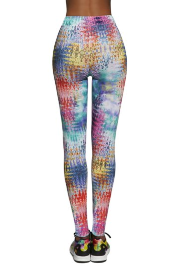 Bas Bleu Tessera 90 women's sports leggings multicoloured pattern regular waist