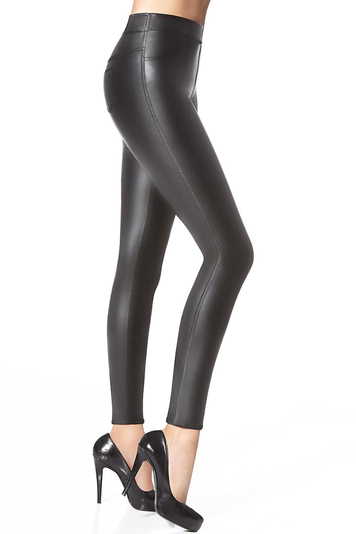 Bas Bleu Vanessa Ladies wet look smooth treggings