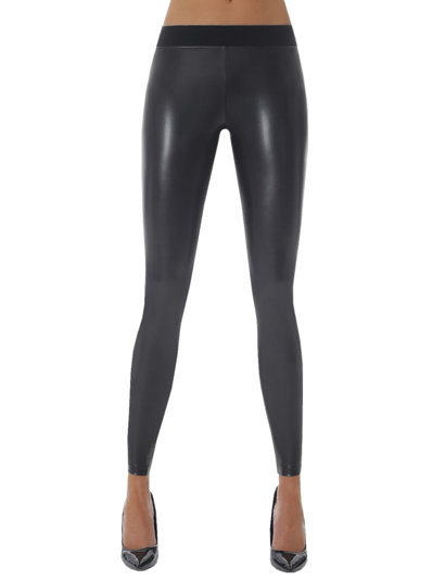 Bas Bleu women's faux leather shiny leggings Kimberly