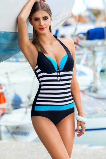 Ewlon Pamela I trendy stylish striped monokini