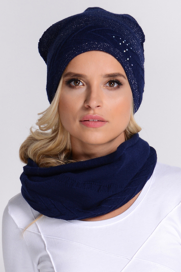 Fil'loo KPL-17-14 women's hat and snood set patterned winter warm