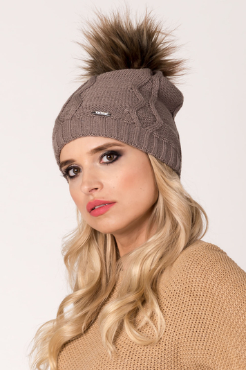 Fil'loo women's hat with pompom CD-18-07