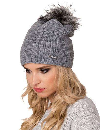 Fil'loo women's hat with pompom and lining CD-18-02