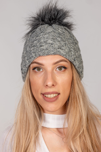 Fil'loo women's pom pom hat CD-19-18