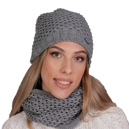 Fil'loo women's warm hat and snood set KPL-19-53