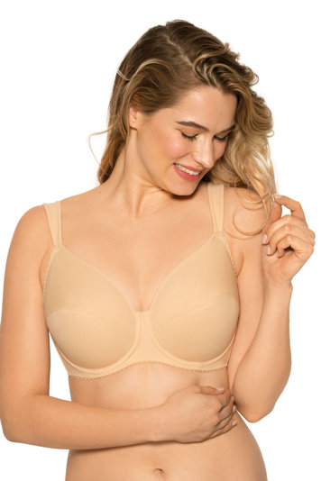 Gaia 075 underwired soft non padded full cup big bust maxi size smooth bra