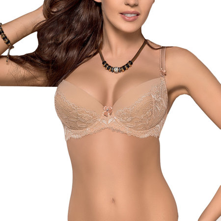 Gorsenia 187 Arabica Padded bra, adjustable, removable straps