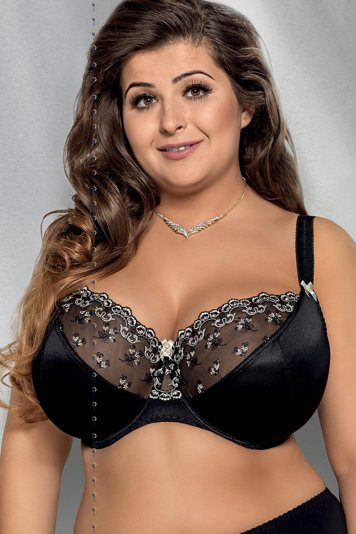 Gorsenia K213 Marlene underwired non padded full cup embroidered plus size bra