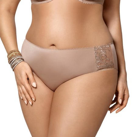 Gorsenia K379 Victoria women's briefs smooth with embroidery plus size