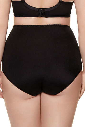 Gorteks women's high waisted embroidered briefs Onyx/FW
