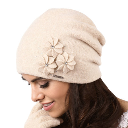Kamea smooth thick woolen women's hat Siena