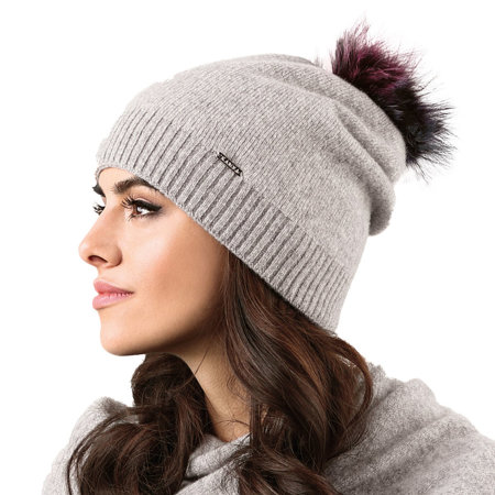 Kamea smooth woolen pom pom women's hat Vercelli