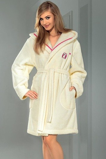 L&L Silva classic knee-lenght soft dressing gown with hood