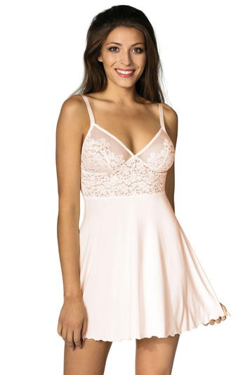 Lupoline lace soft cups nightdress and thong set 128