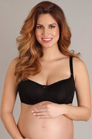 Lupoline underwired soft dotted nursing bra 1381