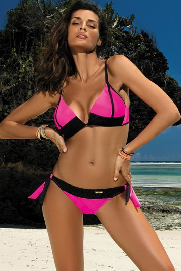Marko Agnes M-398 women's two piece bikini padded cups adjustable straps