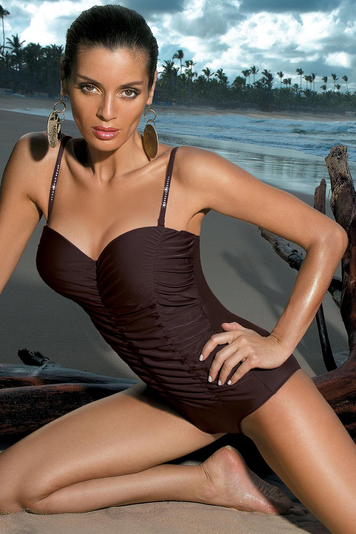 Marko Gabrielle 2 M-243 elegant classic feminine monokini with removable and adjustable straps