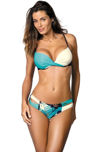 Marko Kate M-410 underwired padded bikini set push-up pads patterned