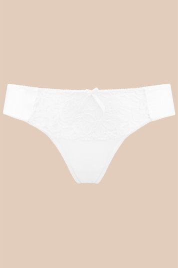 Nipplex Penelope elegant classic thong with delicate floral lace pattern