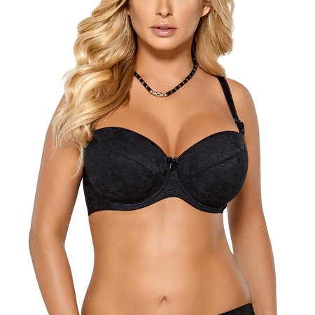 Nipplex Wanda underwired padded full smooth patterned bra removable straps