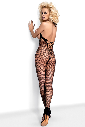 Obsessive Bodystocking N106 openwork fishnet with adjustable straps