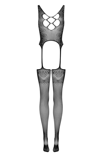 Obsessive sexy lace mesh crotchless Bodystocking F228