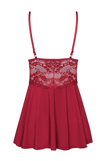 Obsessive sexy lace nightdress and thong set 810-BAB-3
