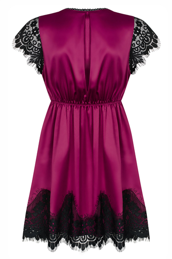 Obsessive sexy lace satin dressing gown 861-PEI-5