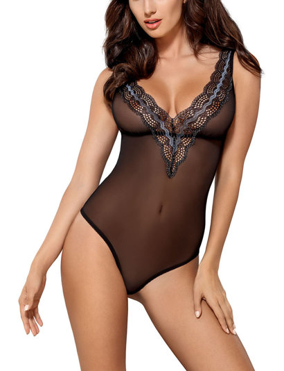 Obsessive sexy sheer lace body 869-TED-1