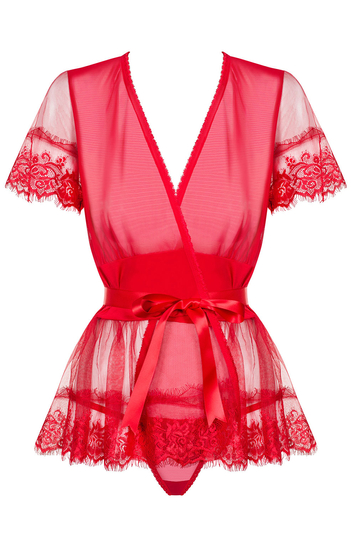 Obsessive sexy sheer lace dressing gown 870-PEI-3