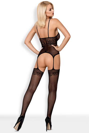 Obsessive sheer mesh woman Bodystocking F224