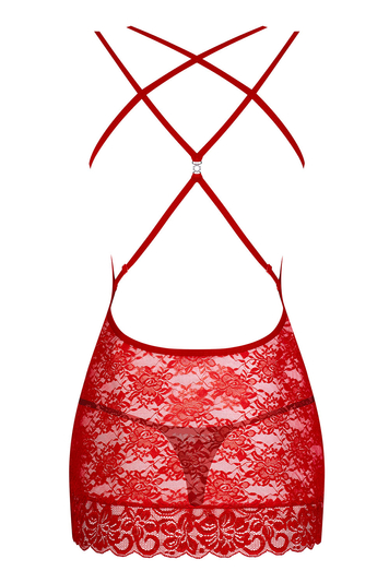 Obsessive women's lace sheer underwired chemise 860-CHE-3
