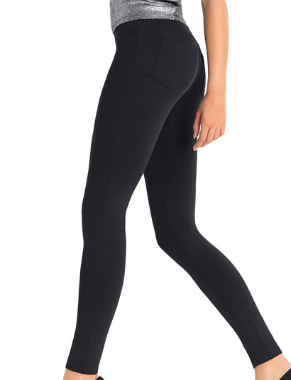 Trendy Legs Plush Paola women's leggings smooth regular pockets