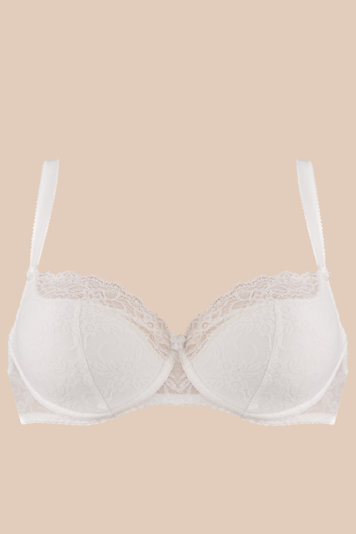 Vivisence 1016 underwired semi padded bra lace smooth adjustable straps