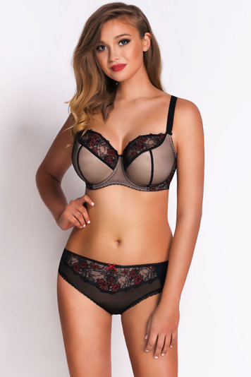 Vivisence floral underwired semi padded bra 1023