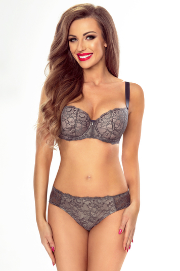 Vivisence underwired lace balcony padded bra 1034