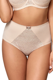 Ava women's lace high waist briefs 1755/B Pure Sand