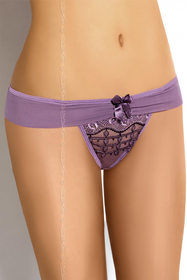 "Axami V-5028 ""Violet""subtle luxurious and comfortable thong"