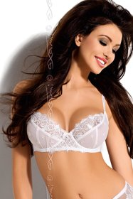 "Axami V-5151 ""Calia"" transparent lacy brassiere, adjustable straps"