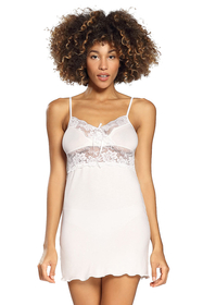 Dkaren Ines women's nightdress chemise lace satin