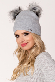 Fil'loo women's hat with pompoms CD-17-37