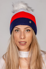 Fil'loo women's pom pom colourful hat CD-19-17