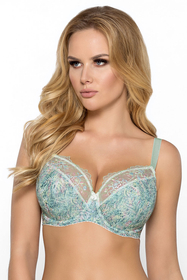 Gaia underwired patterned semi padded bra 763 Laurisa