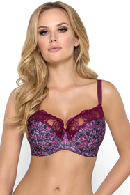 Gaia underwired patterned semi padded bra 769 Eugenie
