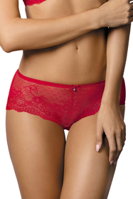 Gorteks Scarlet/Sz women's knickers shorts transparent lace sheer