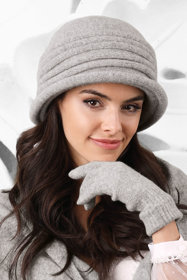 Kamea smooth woolen women's hat Salerno