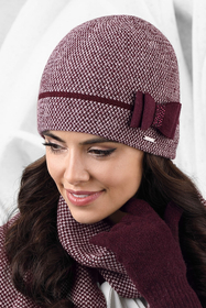Kamea warm winter patterned women's hat Bolonia
