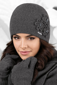 Kamea women's smooth beanie flower hat Corato
