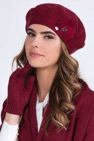 Kamea women's smooth warm floral beret Elza